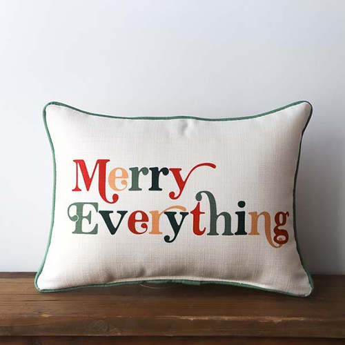 Merry Everything, Throw Pillow, Little Birdie
