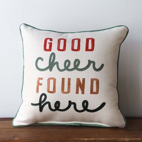 Good Cheer Found Here, Throw Pillow, Little Birdie