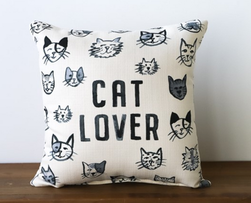 Cat Lover Pillow The Little Birdie