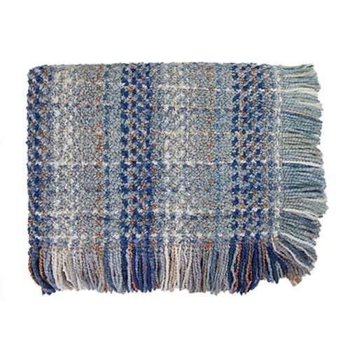 Ombre woven throw Bedford Collections Driftwood color