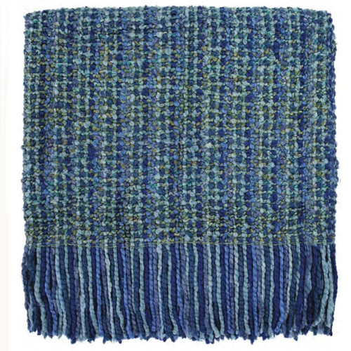 Stria Woven Throw Bedford Collections Waterfall color