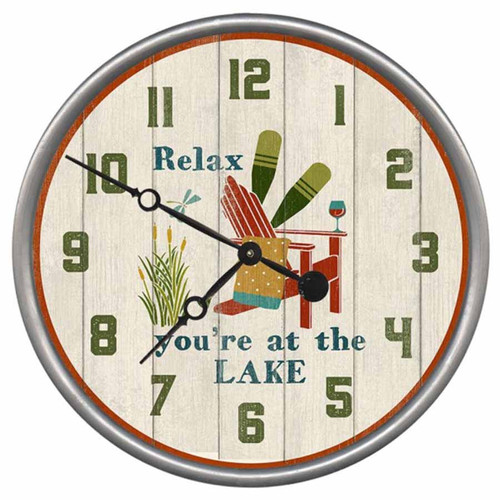 Relax You are at the Lake Clock