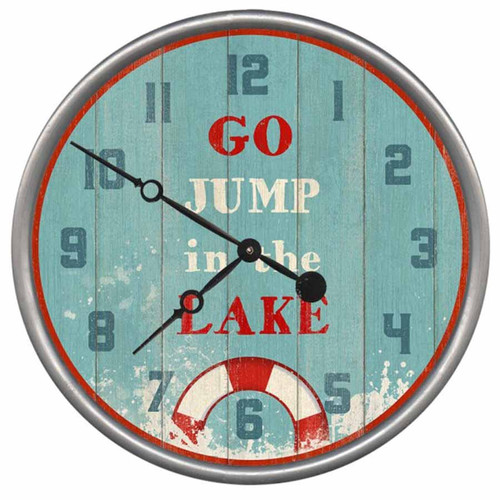 Go Jump in the Lake Clock