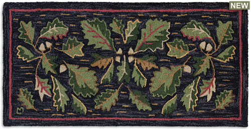 Acorns & Leaves hooked wool rug Chandler 4 Corners