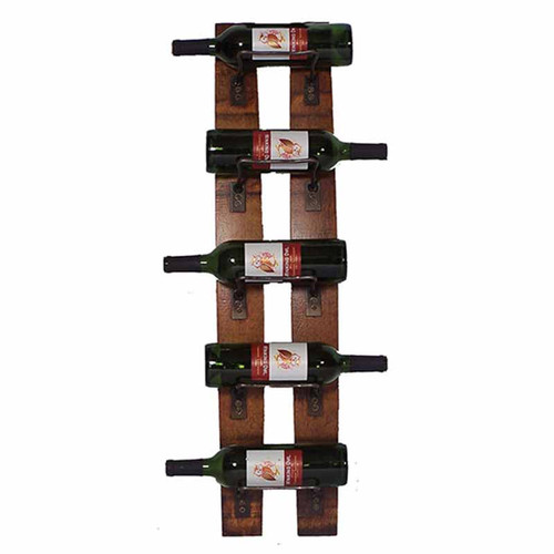 5 bottle wine rack by 2-day-designs, made with authentic wine staves