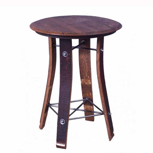 Side Table 24 inch barrel top