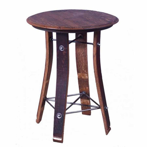 Side Table 28 inch barrel top