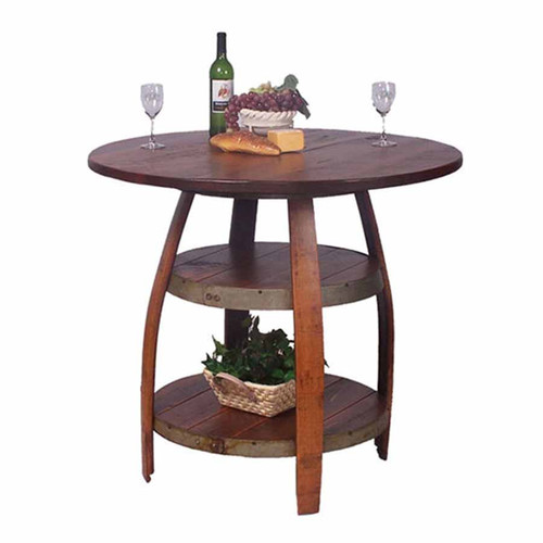 Barrique Bistro Table 2-Day-Designs, wine barrel furniture