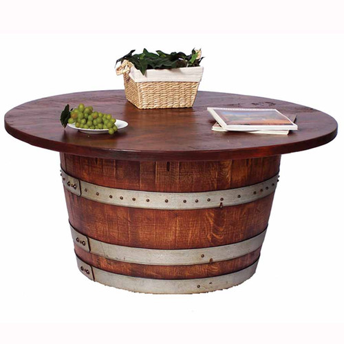 Half barrel cocktail, coffee table, 2-Day-Designs
