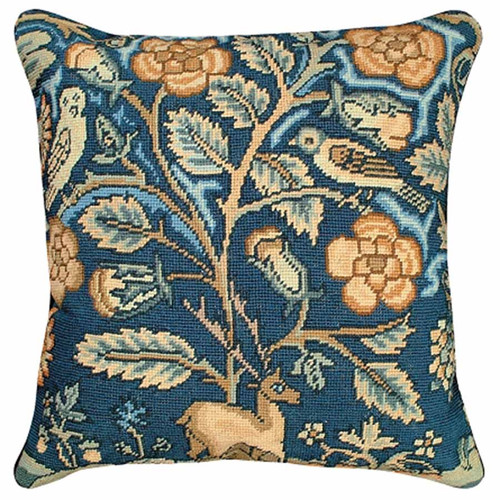 Stag and owl throw pillow, Michaelian Home