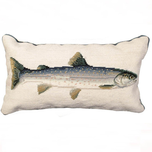 Trout Dolly Varden throw pillow