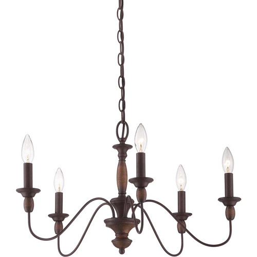 Quoizel Lighting HK5005TC Holbrook Chandelier Americana
