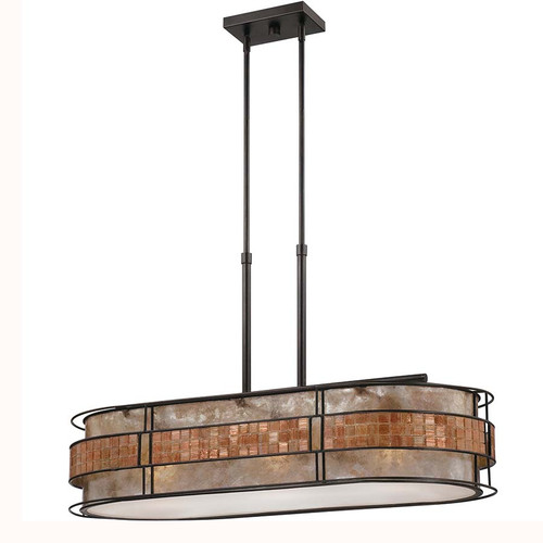 Quoizel Lighting MCLG337RC Laguna Island Chandelier, mica shade