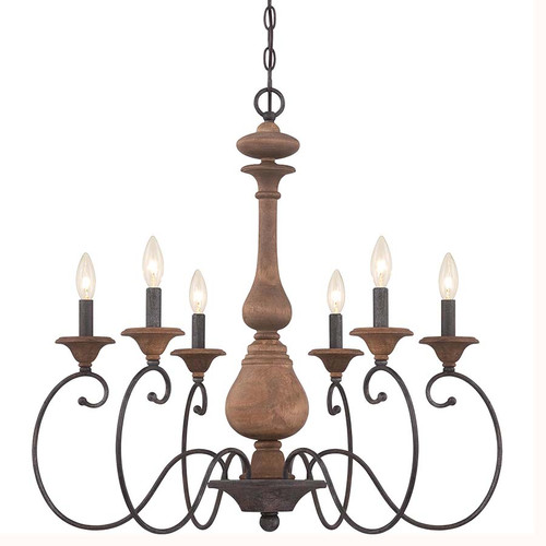 Quoizel Lighting ABN5006RK Auburn Chandelier