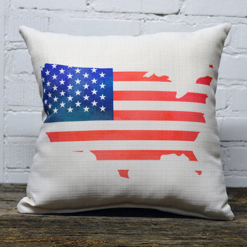 USA (America) flag throw pillow by Little Birdie