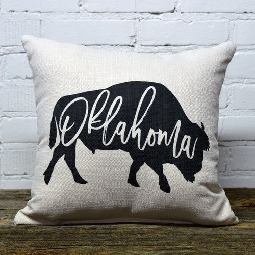 Oklahoma Bison throw pillow