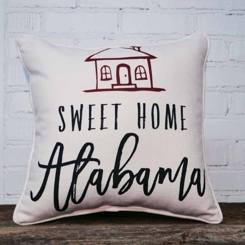 Sweet Home Alabama throw pillow by the Little Birdie