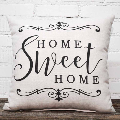 Home Sweet Home throw pillow by the Little Birdie