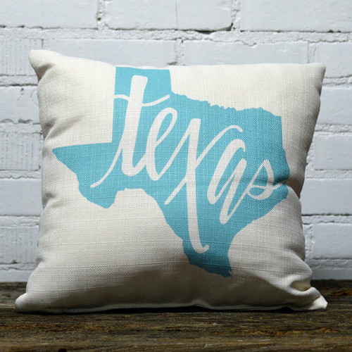 Robin's Egg Texas pillow