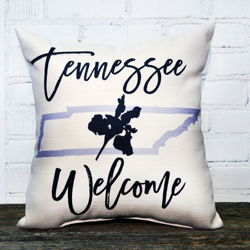 Tennessee Welcome throw pillow, the little birdie