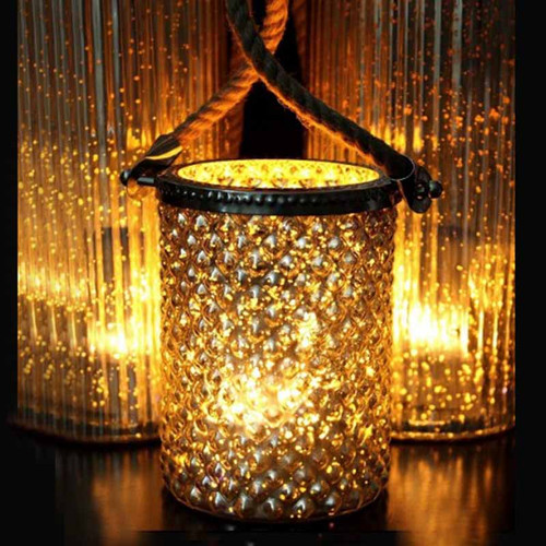 Glass Hurricane  container, ideal for Flame Wave, Light Garden, flameless candles, moving flame