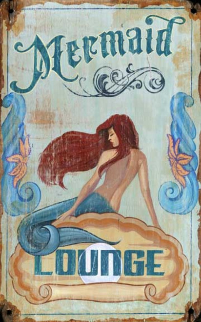 Mermaid Lounge vintage Red Horse sign