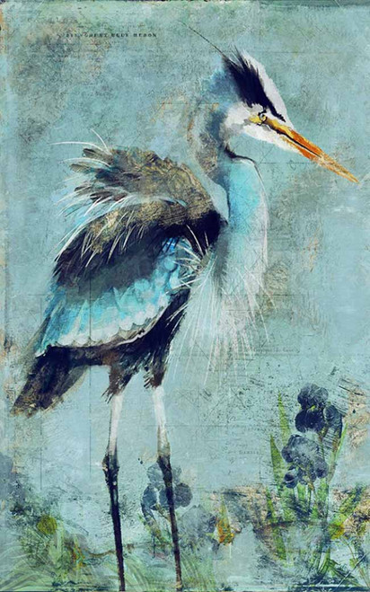 "Great Blue Heron, Red Horse signs, Anthony Morrow design. Often called a ""crane"", the Great Blue Heron is widespread throughout North America."