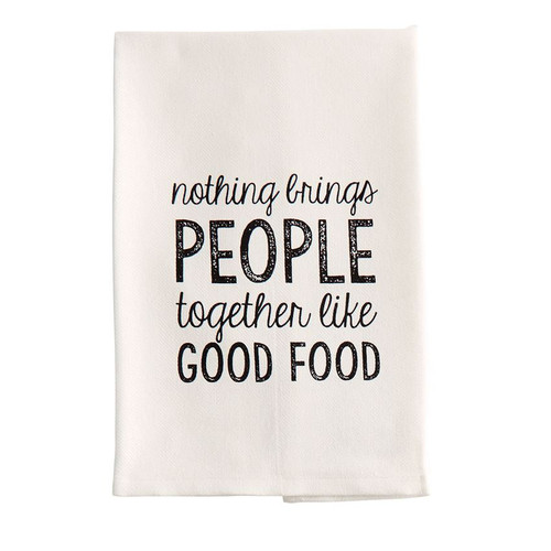 Add some humor to your kitchen with this Mud Pie woven cotton hand/dish towel featuring a printed cooking themed sentiment.  At Robyns Lake House fun tea towels are a MUST.