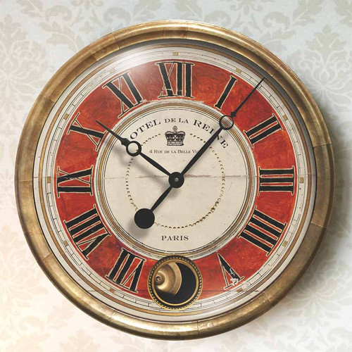 Hotel de la Reine Red Wall Clock