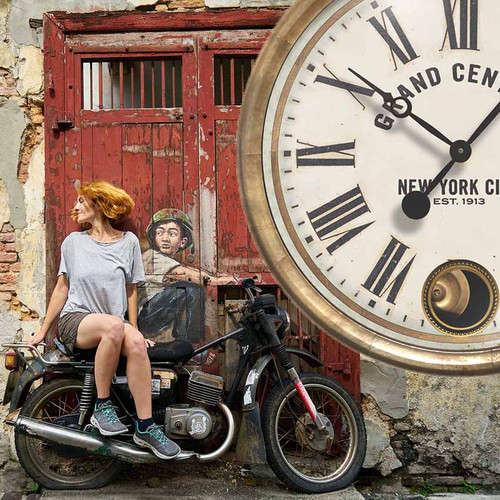 how to get to Grand Central Station, Motorcycle, Trademark Time Company, Grand Central Terminal wall clock