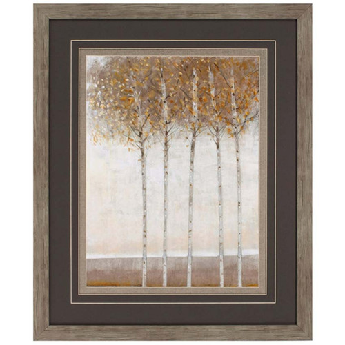 Propac Images, Early Fall 1, framed art under glass, golden Aspen trees against the hills
