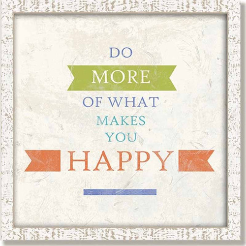 Red Horse signs, Happy Framed wooden art, Suzanne Nicoll, Lyra Collection, quote, do more of what makes you happy