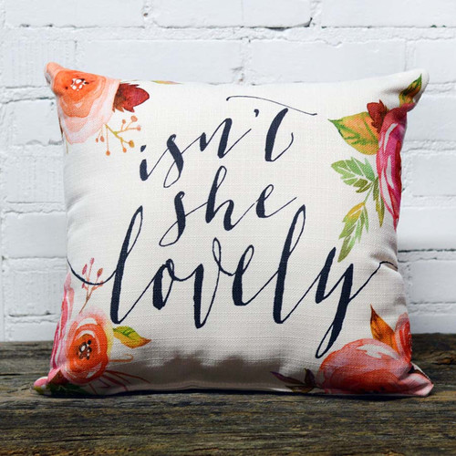 The Little Birdie Company, Isn't She Lovely Pillow. Just like the legend himself Stevie Wonder says Isn't she lovely, Isn't she wonderful, Isn't she precious this fun pillow can add to any decor.
