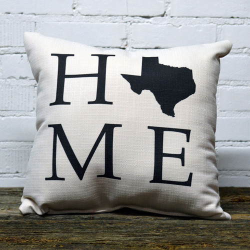 The Little Birdie, Home State throw pillow, choose you state and we will personalize it.