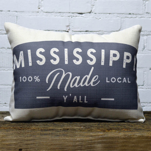 """The Little Birdie, Gray State """"Made"""" Pillow"""