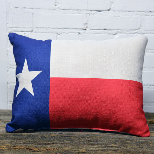 The Little Birdie, State Flag, throw pillow, measures 21 by 13 inches, select your state flag