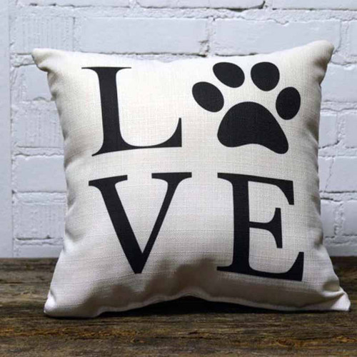 The Little Birdie, Love Paw Print, throw pillow