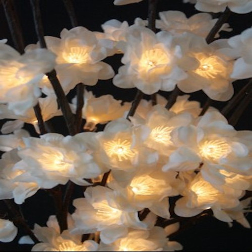 Inspired by natures majestic beauty!  Illuminate your environment with the stunning soft, warm glow of these Light Garden White Plum lighted branches.  These inspiring lights make gorgeous wall décor when placed in a sconce. They can be added to an existing arrangement of silk or dried flowers. Illuminated lights are also perfect for gift giving for birthdays, weddings, anniversary's, house warmings, baby showers and more. They are exceptional for parties and events…..and definitely set the cozy ambiance at Robyns Lake House