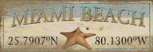 Latitude Starfish, vintage Red Horse wooden sign, Customize and add your location name and latitude coordinates.