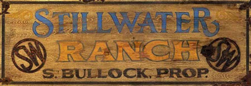 Stillwater Ranch, Red Horse Signs, vintage wall art on wood,  Riding for the Brand