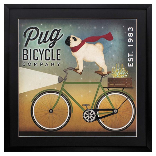 Pug on a Bike art