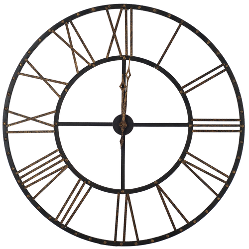 Time Stands Still Clock, Paragon Art, metal clock, contemporary style, urban-look, antique bronze finish