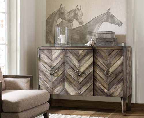 Chevron Console, Hooker Furniture, living room
