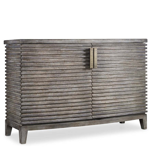 Delano Chest, Hooker Furniture Living Room, Melange Collection, bow-front chest, a simple study in rustic sophistication, an understated approach to modern linear design, Hardwood Solids and Walnut Veneers