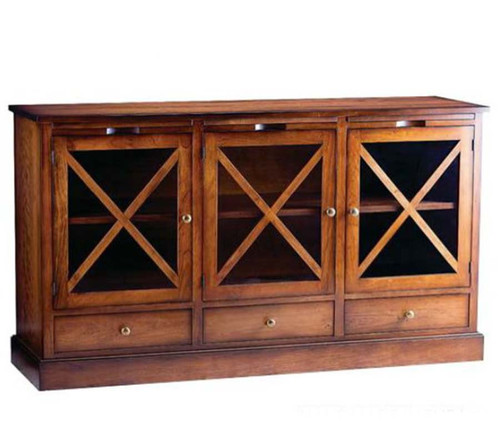 Bridgeport Three Door Server, Gat Creek Furniture, solid cherry, Made in Berkley Springs, West Virginia