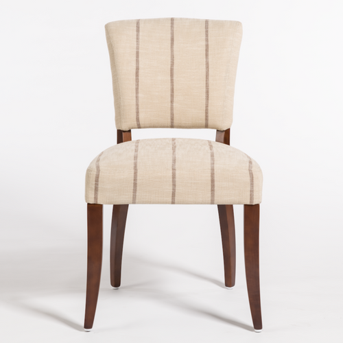 Ashford dining chair, alder and tweed, striped