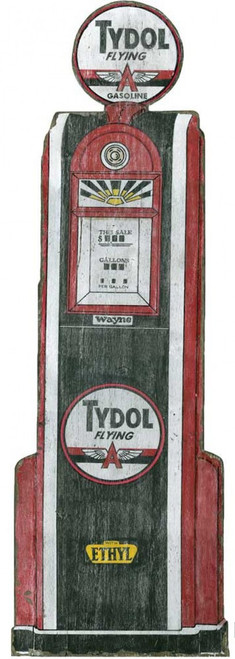 Tydol, Flying A Gas Pump, Red Horse Signs, vintage sign on distressed wood