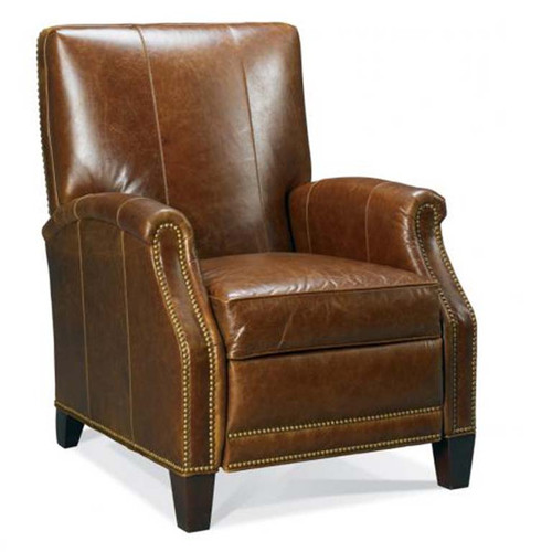 Motioncraft 3920 Hi Leg Recliner, brown leather