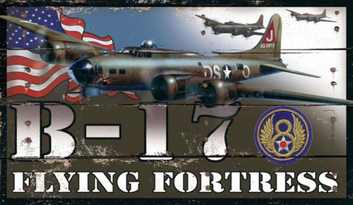 "B-17, Flying Fortress, Red Horse Signs, in honor of Col. Elmer C. ""Bud"" Laedtke and the thousands of other American pilots who flew in combat during WWII"