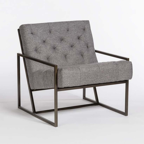 Colton Occasional Chair, Alder and Tweed Furniture